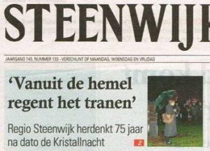 Verslag herdenking in Steenwijker