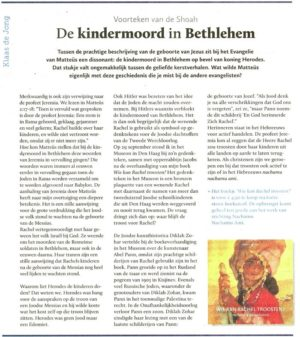 Rachel en de kindermoord in Betlehem