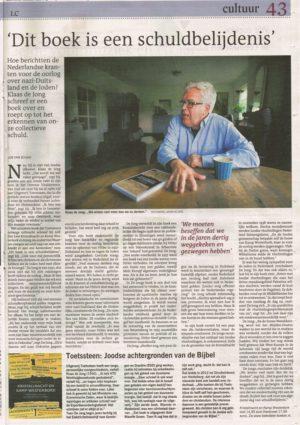 Interview Dagblad vh Noorden en Leeuwarder Courant