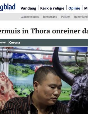 Artikel in RD over oorzaak coronavirus