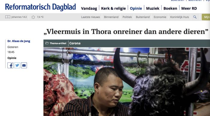 Artikel in RD over oorzaak coronavirus