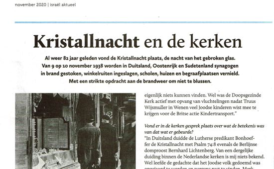 Interview Kristallnacht en de kerken