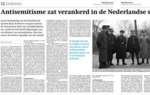 Interview in Friesch Dagblad over schuldbelijdenis kerken