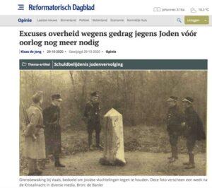 Oproep in RD: excuses voor gedrag na Kristallnacht
