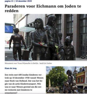 Arikel in RD: Truus Wijsmuller tegenover Eichmann